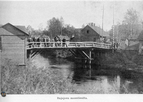 ah Rajajoki auto bridge 1922