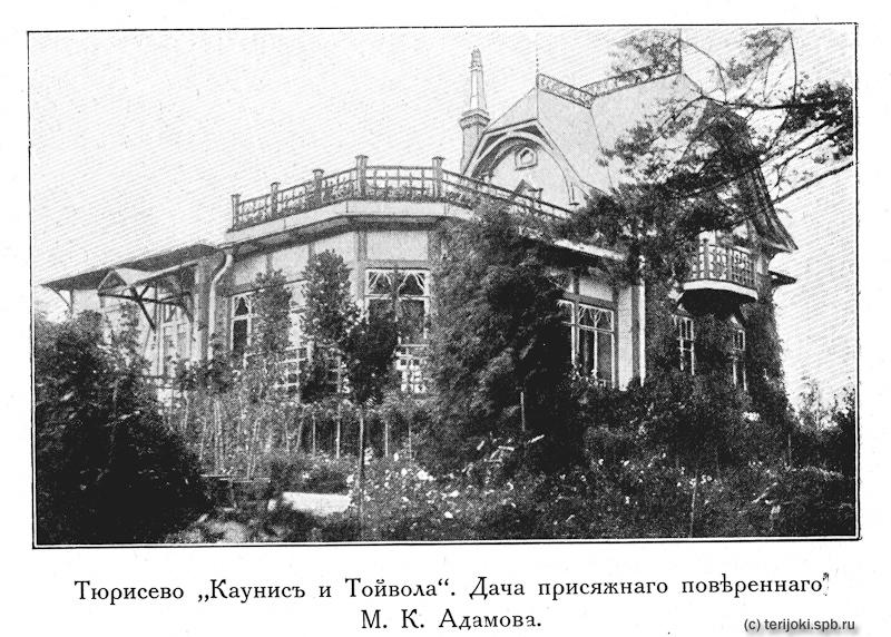 Дача М. К. Адамова, фото из брошюры о термолитовых постройках 1915 г.