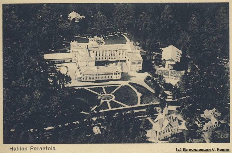 Санаторий в Халила с высоты птичьего полета на почтовой открытке начала 1930-х гг.