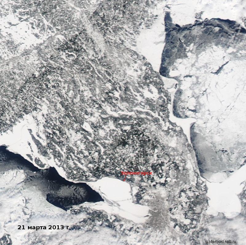 Ледовая обстановка в Финском заливе и в западной части Ладожского озера на 21 марта 2013 г.