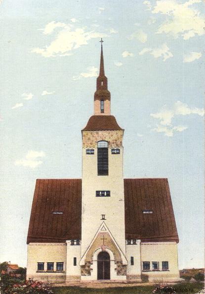 Лютеранская кирха Терийоки/Зеленогорска (открытка середины 1910-х гг.)