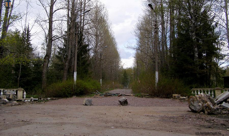 Главные ворота пионерлагеря «Восток-6» со стороны ул. Уютной, 2014 г.