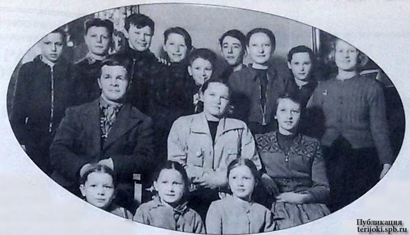 Русский православный кружок в Ярвенпяя. Кирилл Глушков сзади посередине