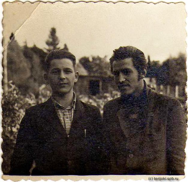 Зеленогорск, 1952 г. Лев Зайцев и Слава Федосеев