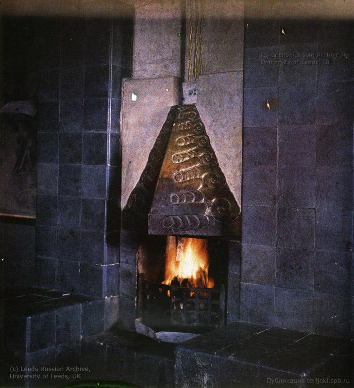 Камин виллы 'Аванс'. Фото Л. Андреева, 1910.