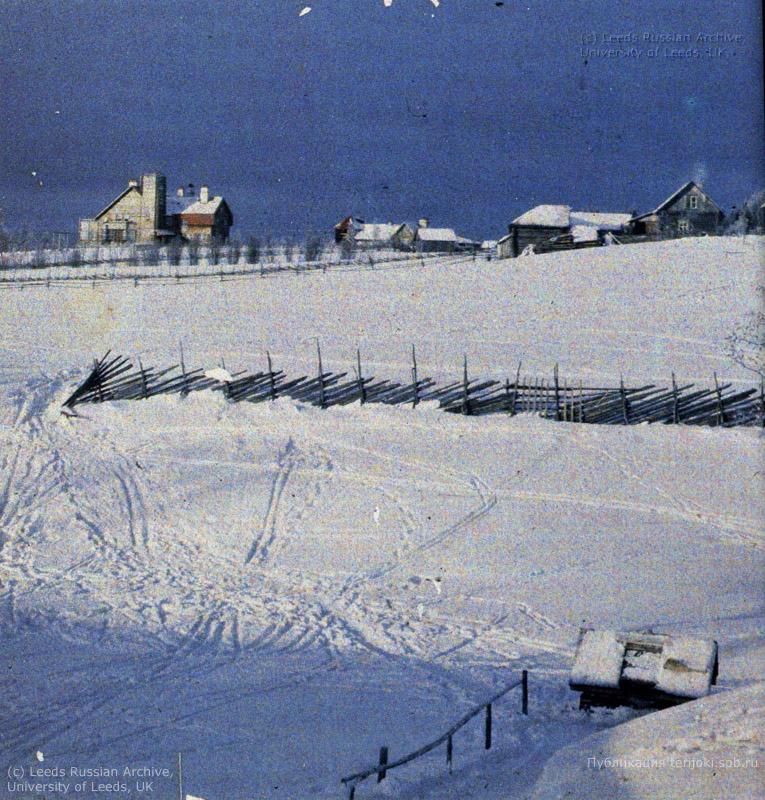 Зимний вид деревни Ваммельсуу, вилла