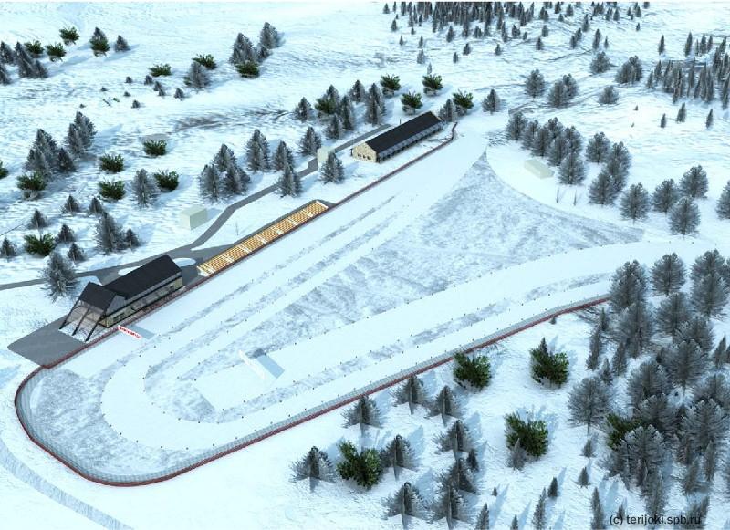 Лыжный стадион в Зеленогорске на Серенаде