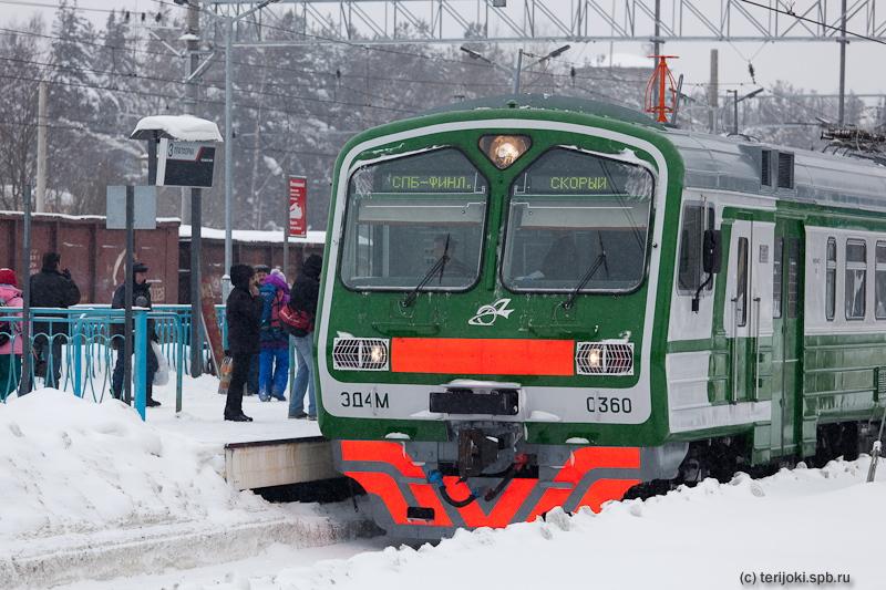 Зеленогорск. Новые пригородные электропоезда