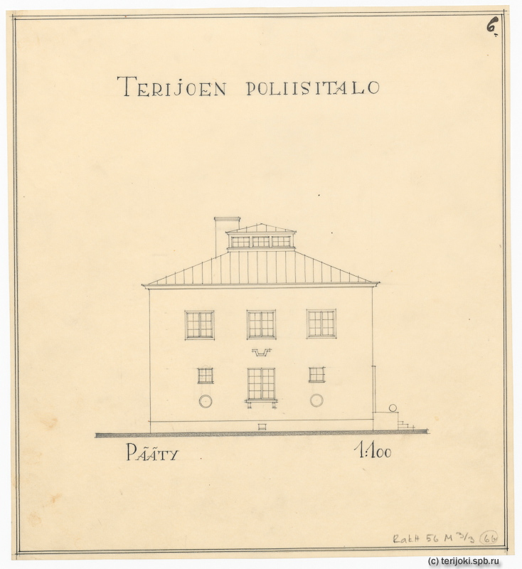 """Проект """"нового"""" здания полиции Терийоки, 1930 г."""