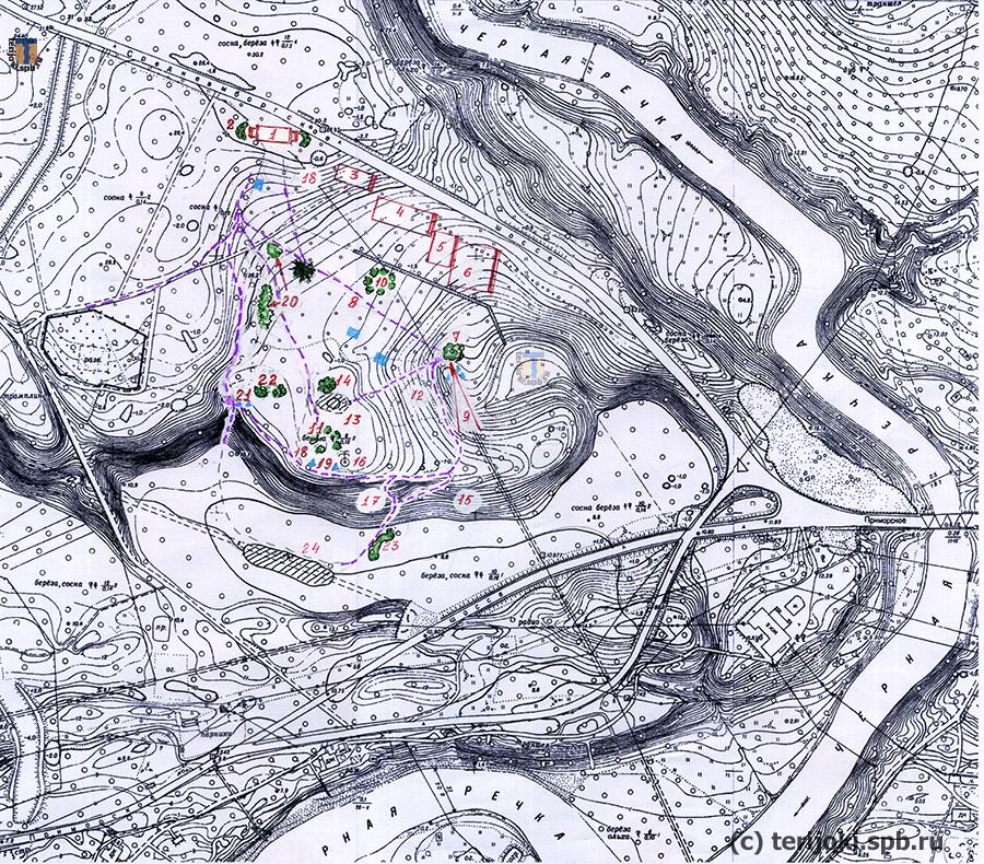 Реконструкция плана усадьбы и парка