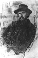 Портрет В. В. Матэ, выполненный В. Серовым в 1899 г. во время пребывания на даче Матэ