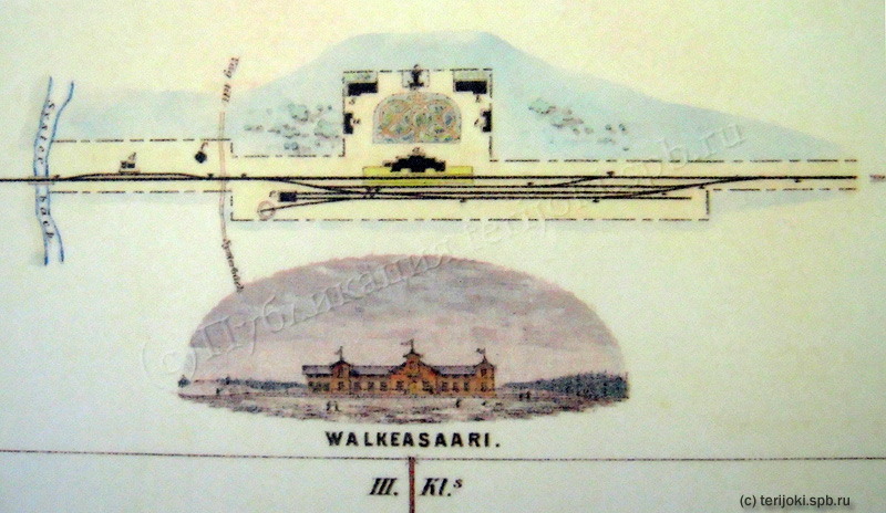 Первый проект станции Белоостров