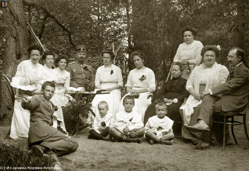 Куоккала, у дачи Кербер, 1912 г.