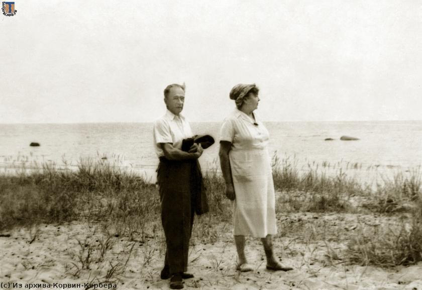 Виктор Корвин-Кербер и Наталья Гарф. Прощание с Куоккалой. 1969 г. Фото из архива Корвин-Кербера