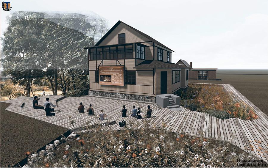 Дача Клумберга, проект реконструкции. Результаты обмеров 2016 г.: фасады