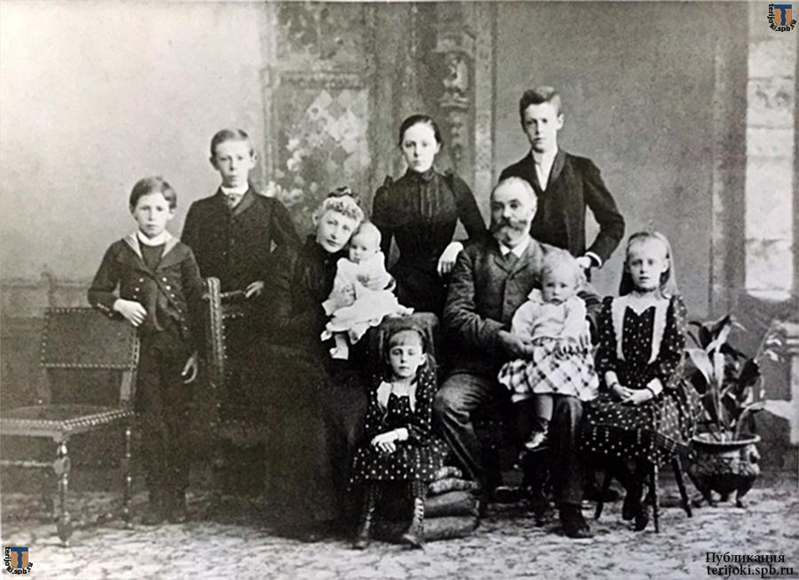 Семья Г. Ф. Эйлерса, 1892 год