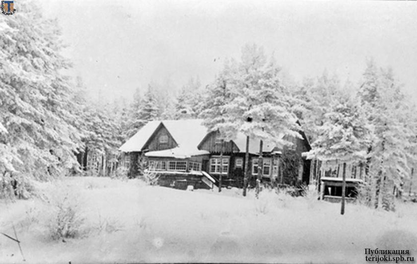 Заснеженная поляна на месте виллы I «Эмма». Фотография сделана Августом Эйлерсом 15.11.1941 г.