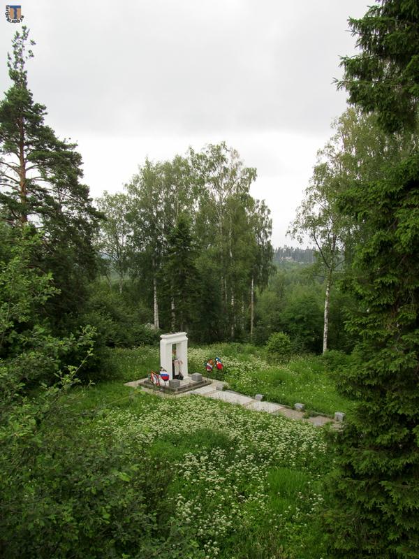 Общий вид воинского захоронения 1939-40 гг. в Сосново. Фото В.Патрунова, 25.06.2016 г.