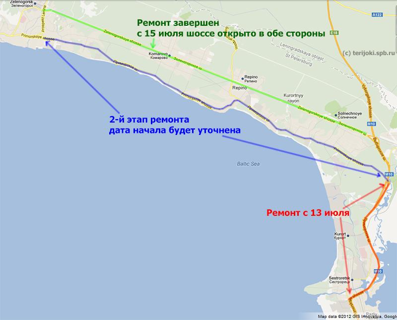 районе СПб в июле 2012 г.