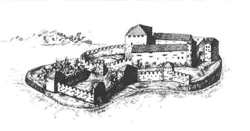 замка в середине XV века.